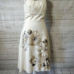 White House Black Market Dress Silk Blend Flower